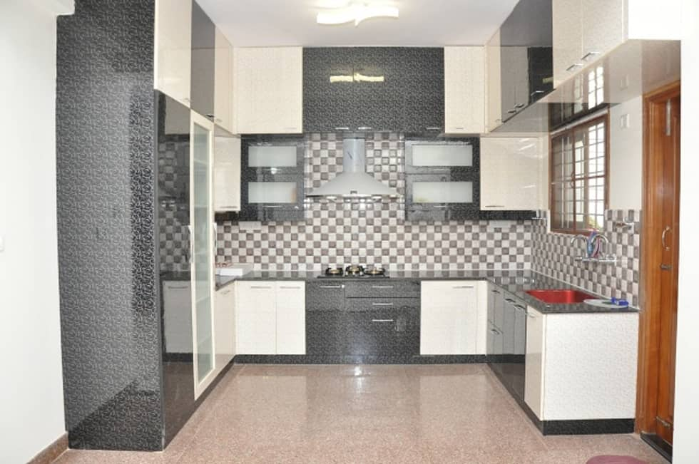 Interior design ideas inspiration pictures homify u shaped modular kitchen bangalore asian kitchen by scale inch pvt ltd solutioingenieria Images
