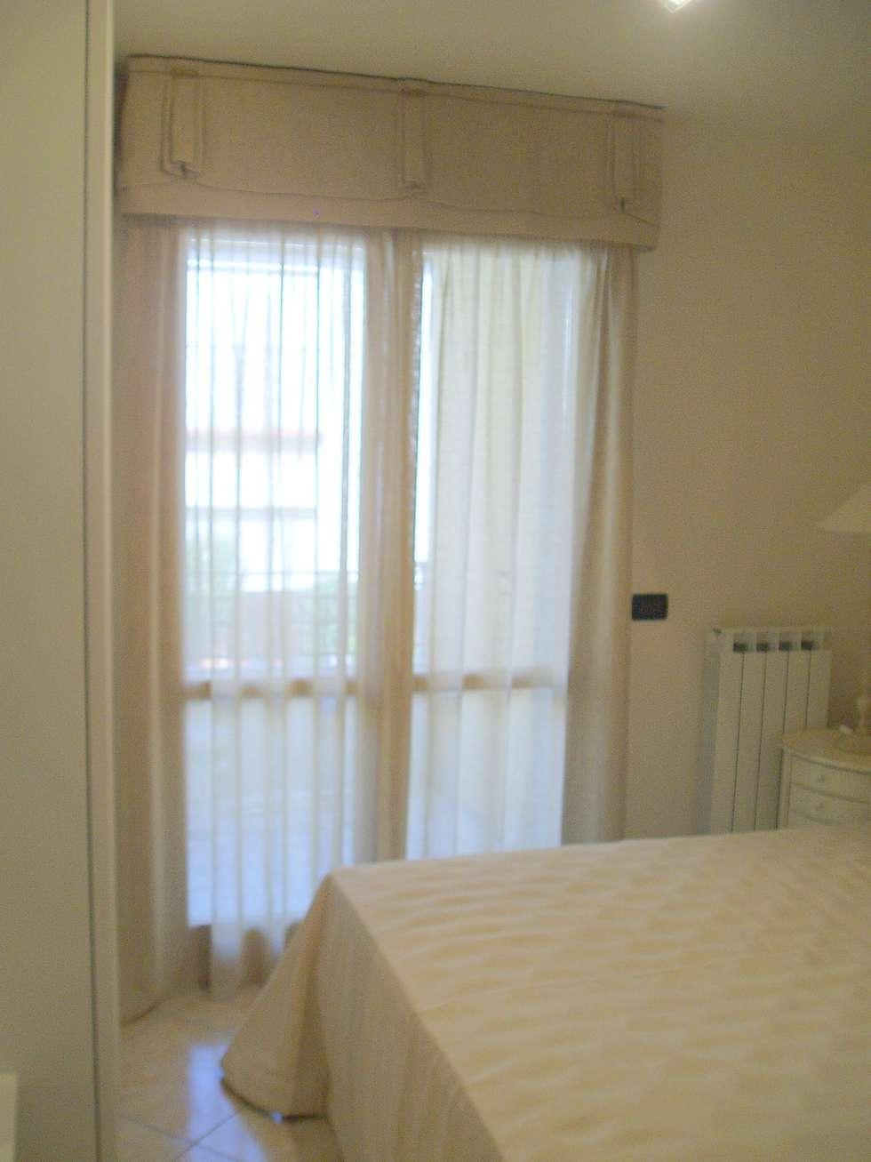 Tenda camera da letto con mantovana: camera da letto in stile in ...
