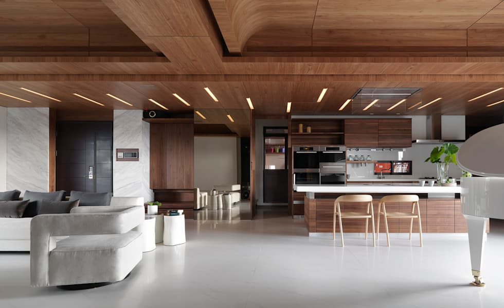 H之所在:  客廳 by 禾築國際設計Herzu  Interior Design