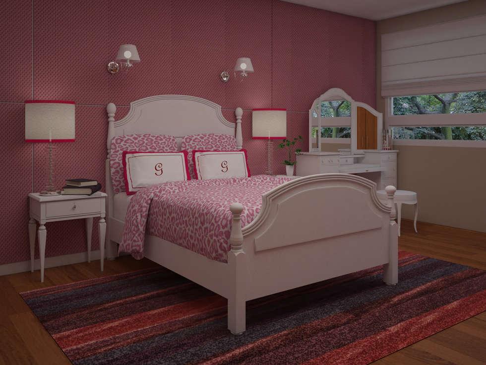 Decoracion render de recamara 1 rec maras infantiles de for Decoracion de interiores estilo moderno