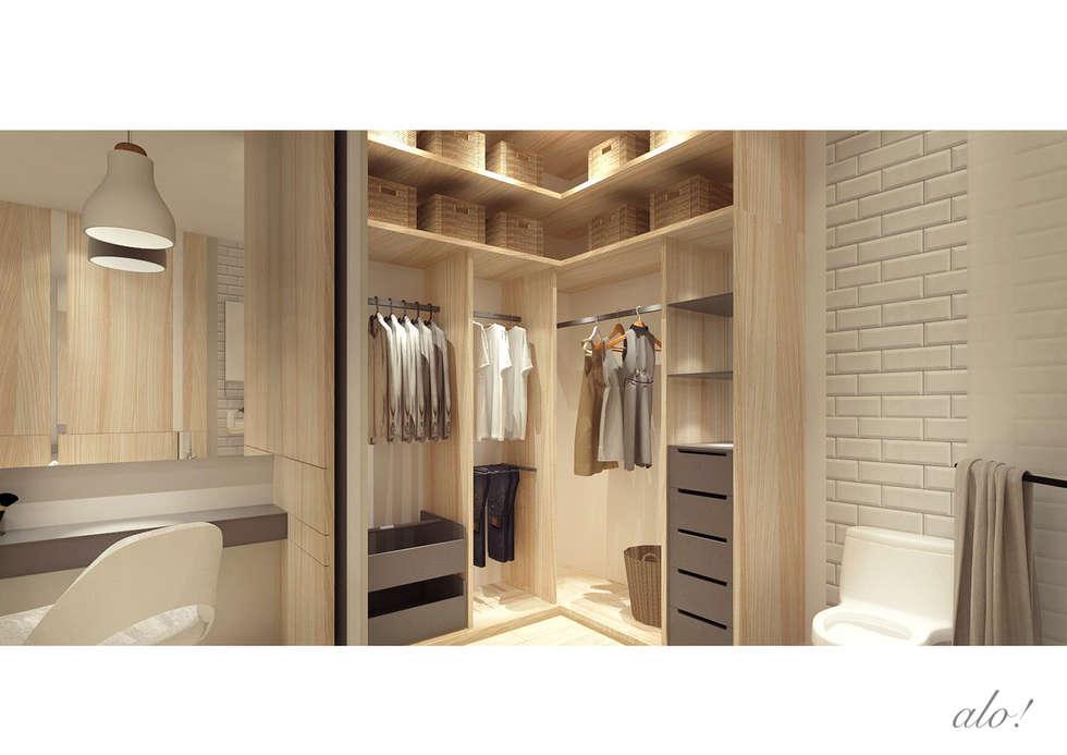 dressing de style de style scandinave par studioalo homify. Black Bedroom Furniture Sets. Home Design Ideas
