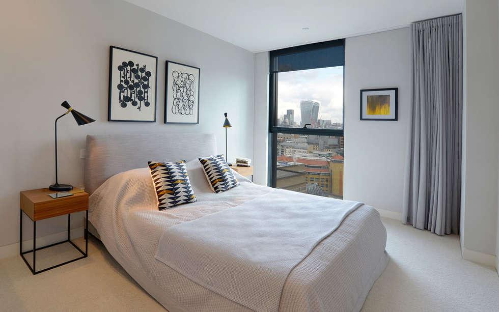 Kleine Minimalistische Slaapkamer : Minimalistische slaapkamer door graham d holland homify