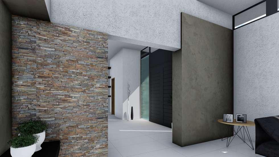 Vivienda minimalista pasillos y recibidores de estilo por for Viviendas estilo minimalista