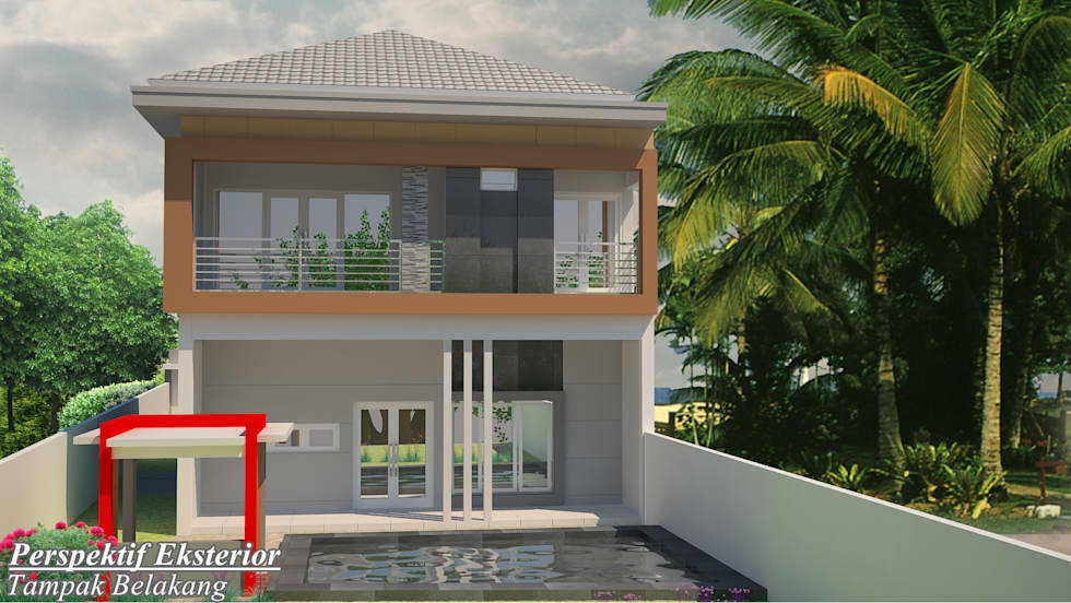 Minimalis Home:  Rumah by Harmony Architecture