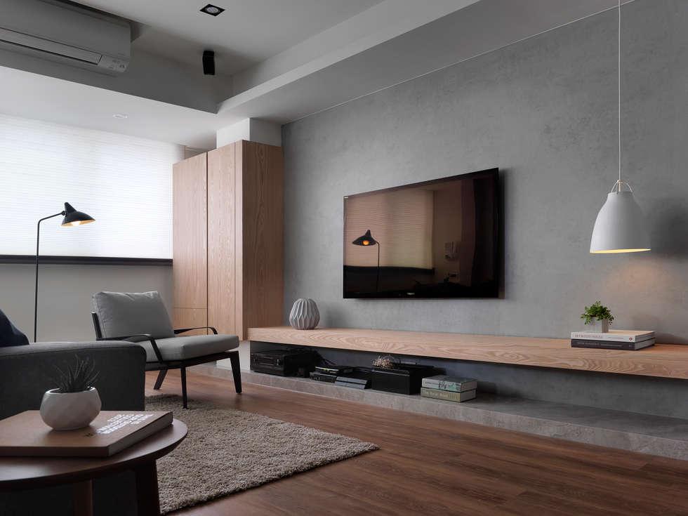 電視牆:  牆面 by 御見設計企業有限公司