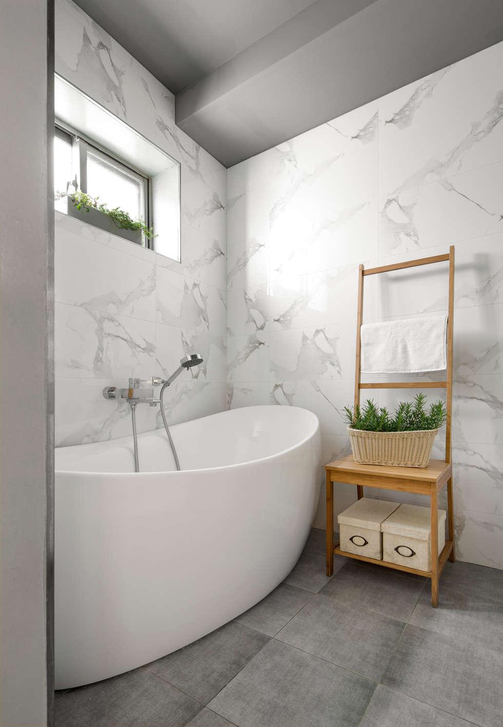 時尚多變化的浴缸挑選:  浴室 by 磨設計
