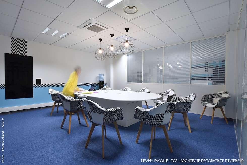 am nagement d 39 une salle de r union esprit start up pr s de lyon par tiffany fayolle architecte. Black Bedroom Furniture Sets. Home Design Ideas