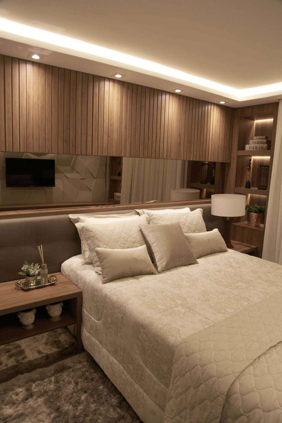 Fotos De Decora O Design De Interiores E Reformas Homify ~ Espelho Bronze Em Quarto De Casal