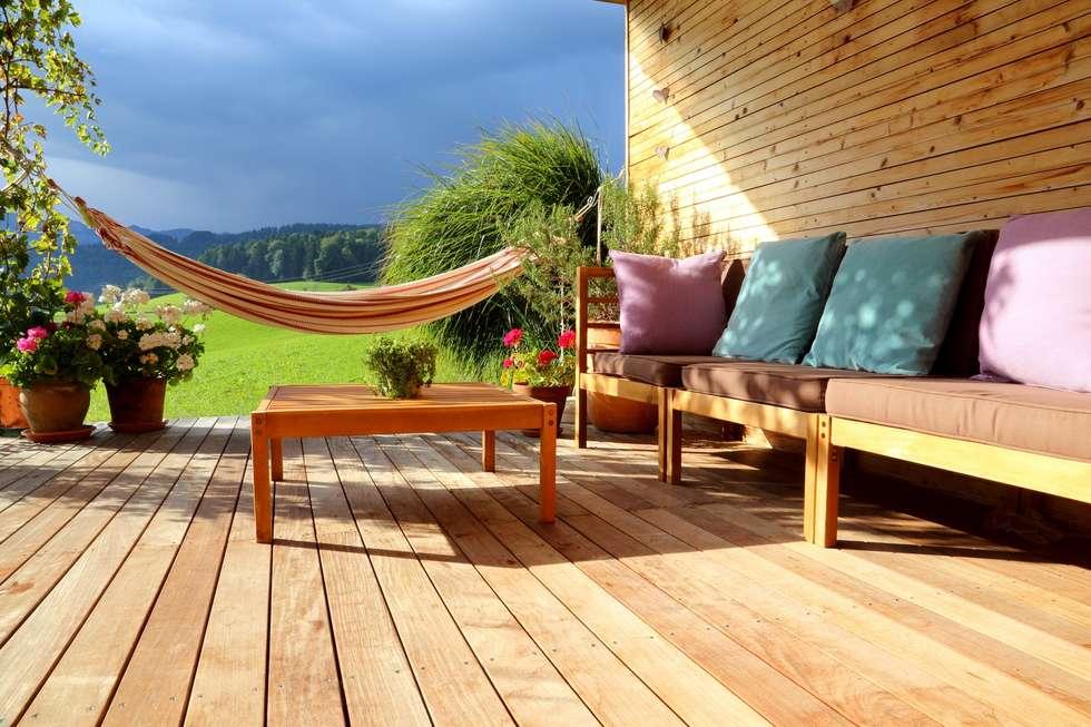 Wooden terrace:  Patios & Decks by homify demonstration profile