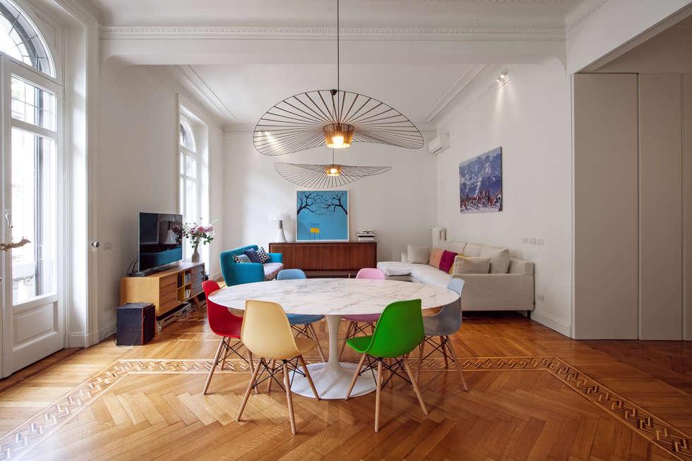 16VT: Soggiorno in stile in stile Moderno di Chantal Forzatti architetto