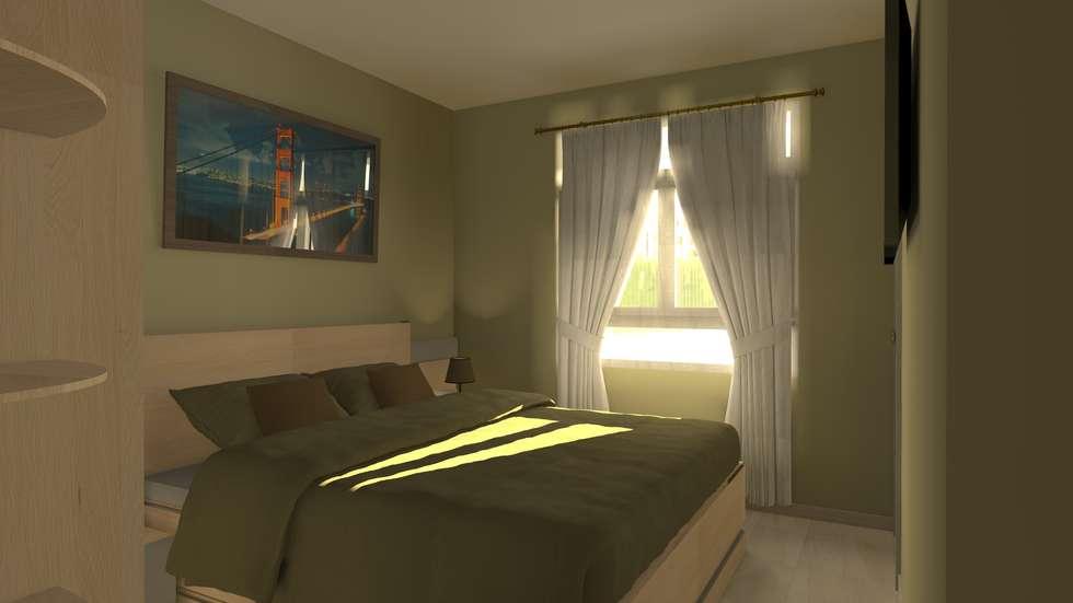 modern Bedroom by Sergio Nisticò
