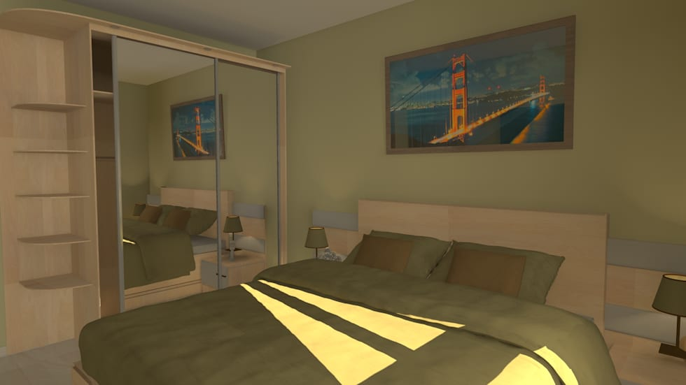 Camera padronale: Camera da letto in stile in stile Moderno di Sergio Nisticò
