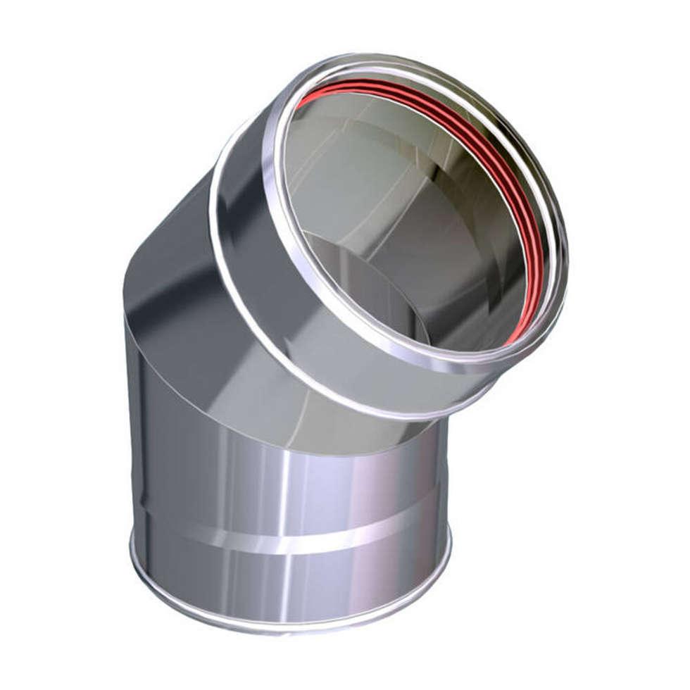 CURVA 45° CANNE FUMARIE INOX: Case in stile in stile Classico di CANNE FUMARIE ONLINE