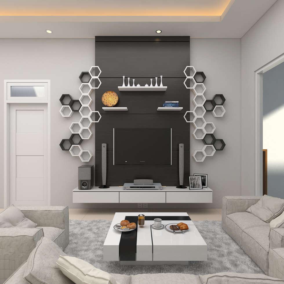 Dining Room:  Ruang Keluarga by JSK STUDIO DESIGN