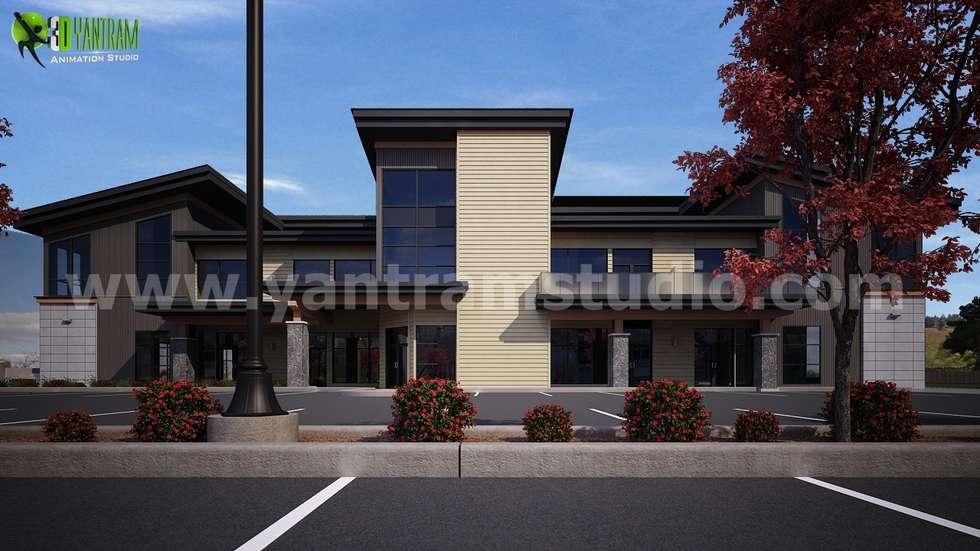 Office buildings by Yantram Architectural Design Studio