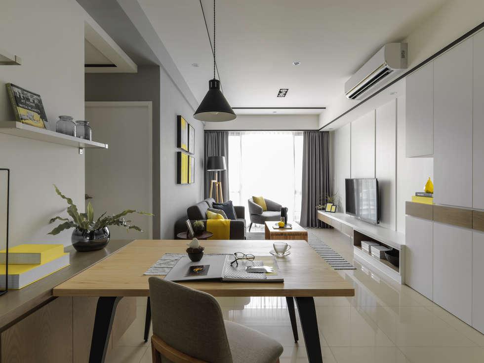 客廳:  餐廳 by 存果空間設計有限公司
