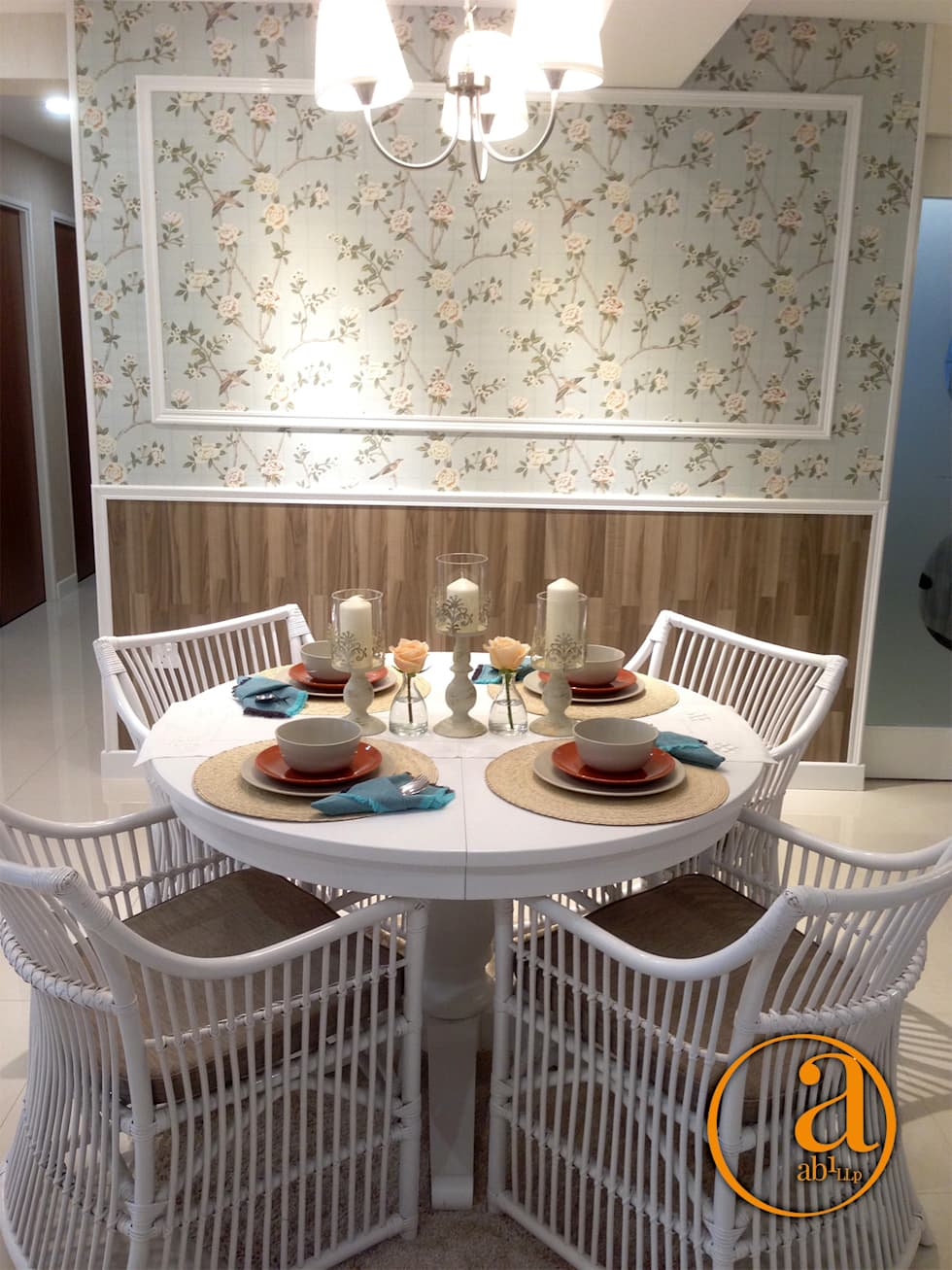 Project @ 342C Yishun Ring Road: classic Dining room by ab1 Abode Pte Ltd