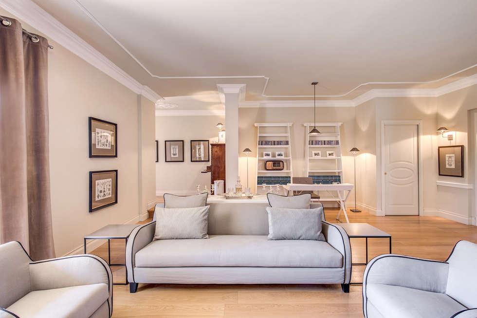 Villa aprilia lt soggiorno in stile in stile classico di for Af arredamenti
