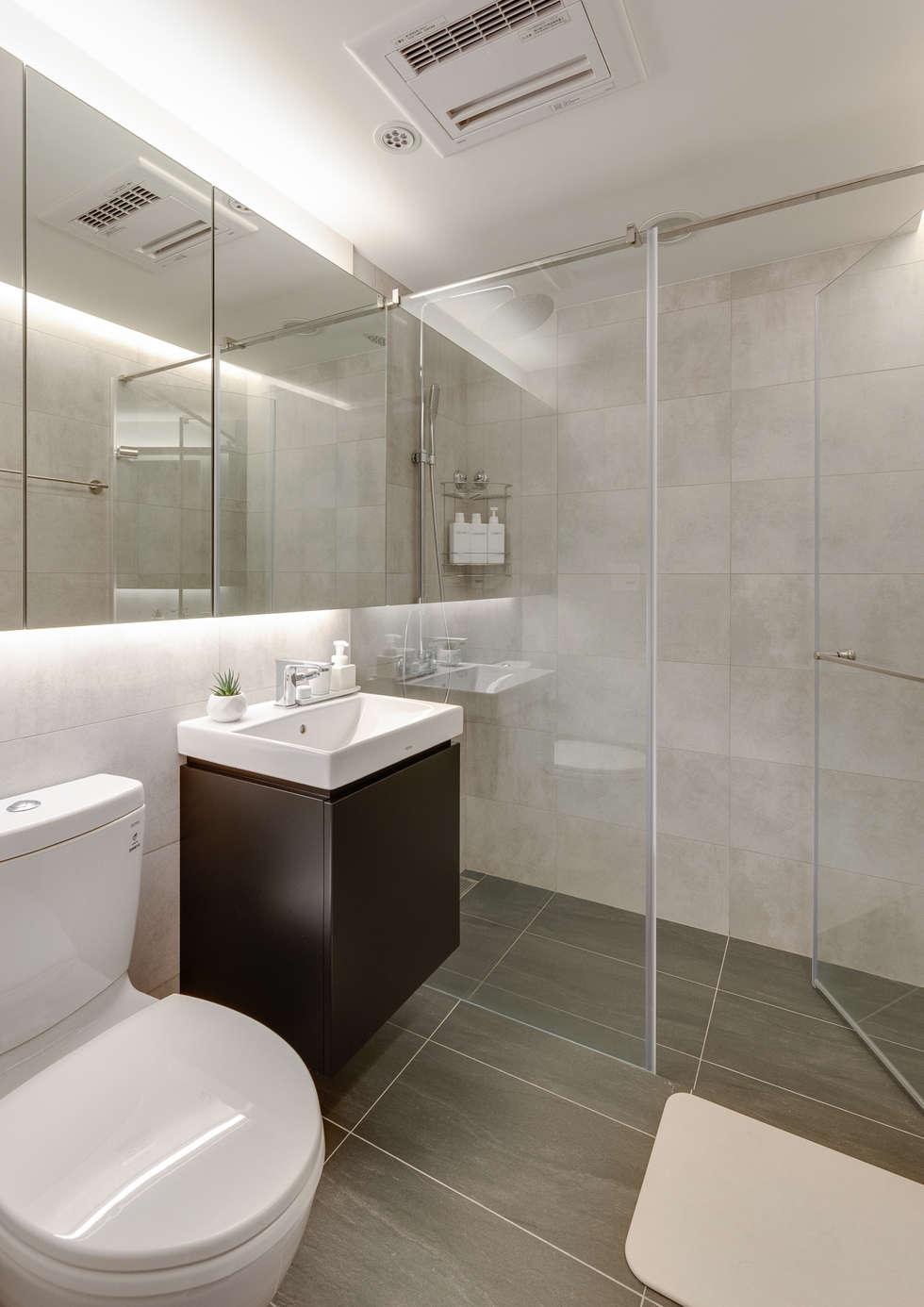 客浴空間:  浴室 by 御見設計企業有限公司