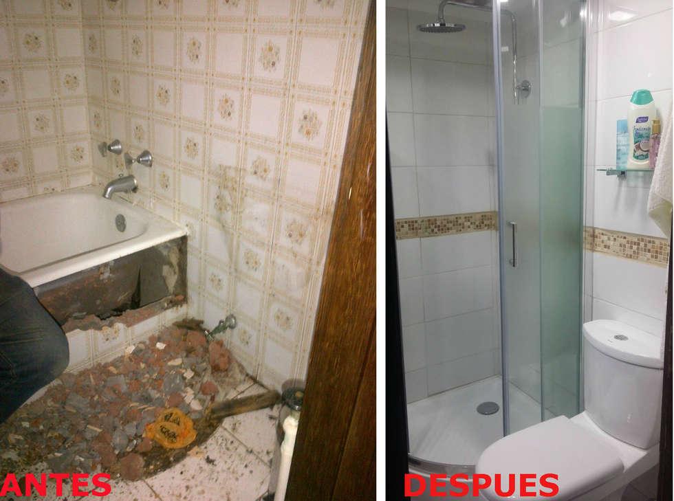 REMODELACION BAÑO GIBSON: Baños de estilo moderno por AOG SPA