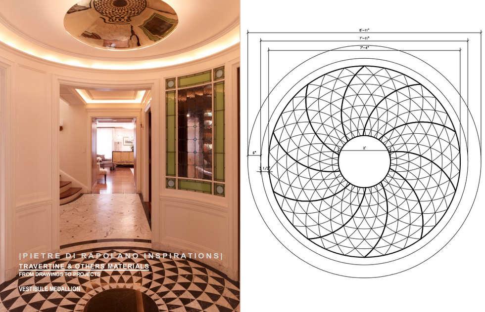 Residenza privata a New York: Ingresso & Corridoio in stile  di Pietre di Rapolano