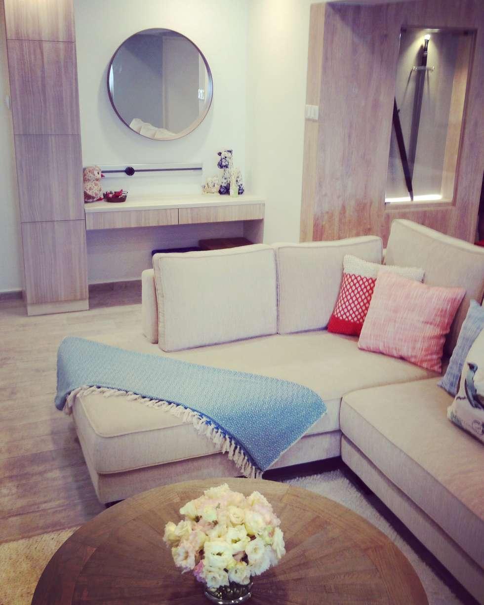 Project Asgard @ Pasir Ris: scandinavian Living room by ab1 Abode Pte Ltd