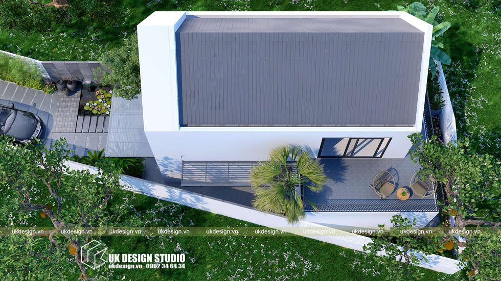 BIỆT THỰ CẤP 4:  Biệt thự by UK DESIGN STUDIO - KIẾN TRÚC UK