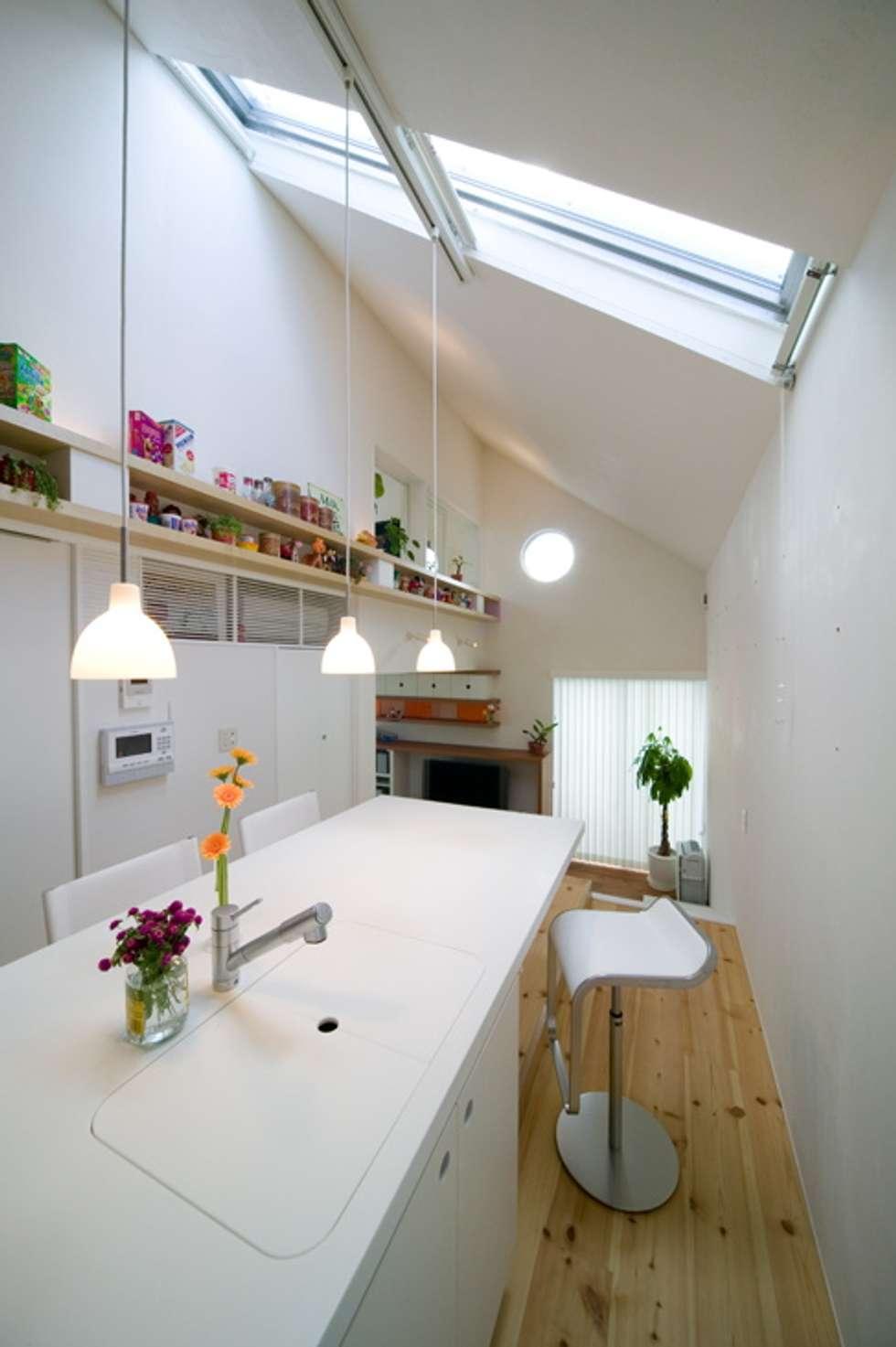 スキップフロアの家/白金台(愛犬家住宅): 前田敦計画工房が手掛けたキッチンです。