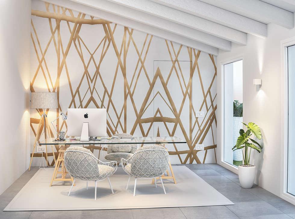 01 villa arzachena studio in stile in stile moderno di - Studio in casa arredamento ...