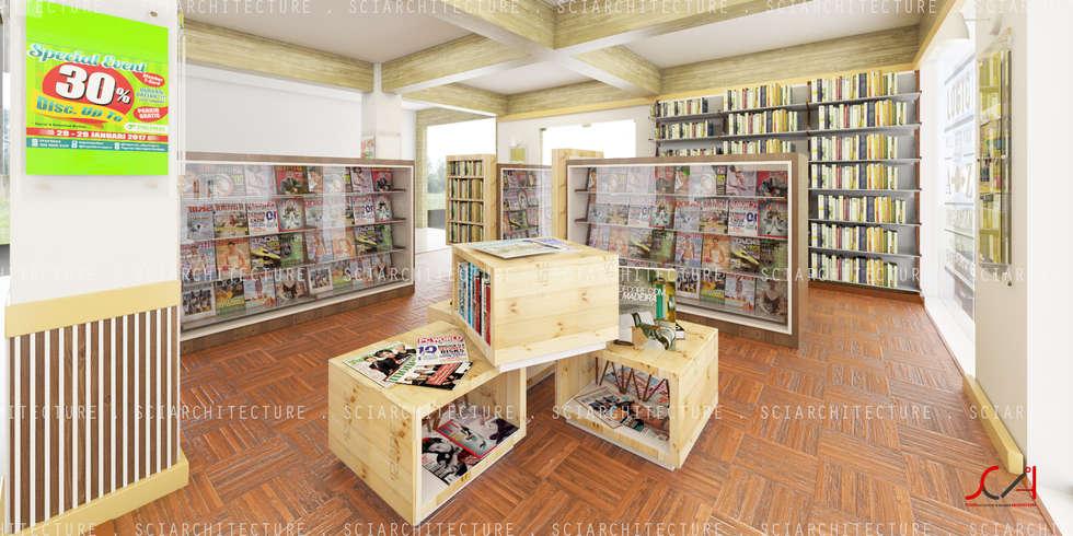 Area Display Buku:  Kantor & toko by SCIArchitecture