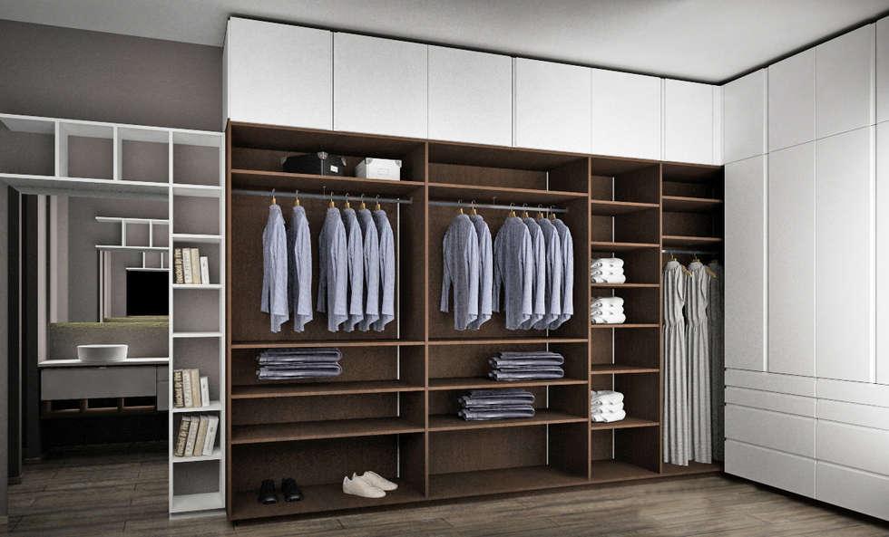 Fotos de decora o design de interiores e remodela es for Closet con espacio para tv