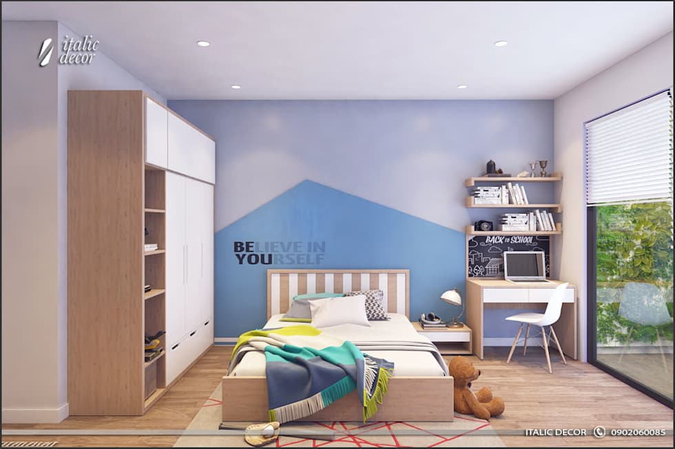 BIỆT THỰ NHÀ VƯỜN:  Phòng ngủ by ITALIC DECOR
