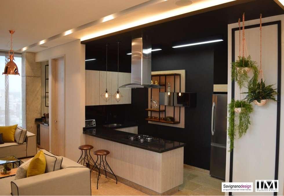 Dise o interior apartamento de soltero cocinas de estilo for Diseno de apartamento de soltero