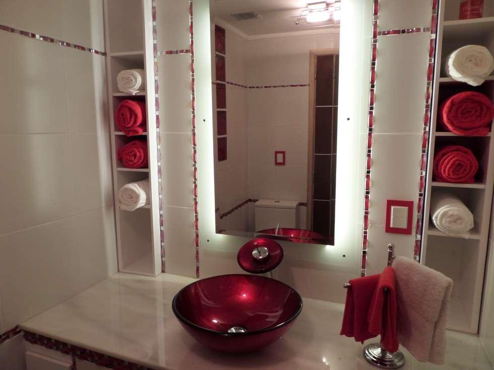 Baño : Piletas de estilo moderno por Himis, Habis y Haim