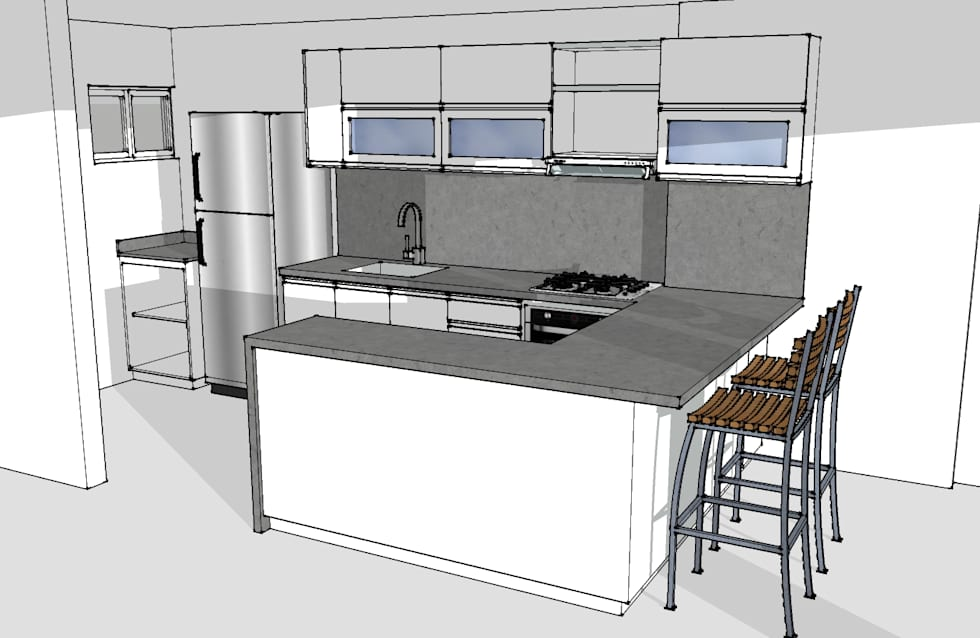Cocina integral : Cocinas de estilo moderno por Remodelar Proyectos Integrales