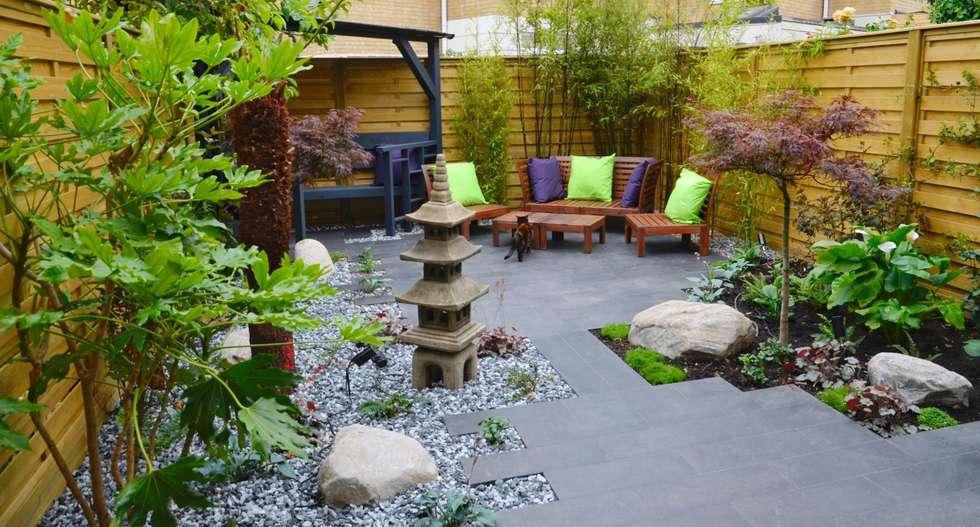 Temple Garden: asian Garden by Borrowed Space