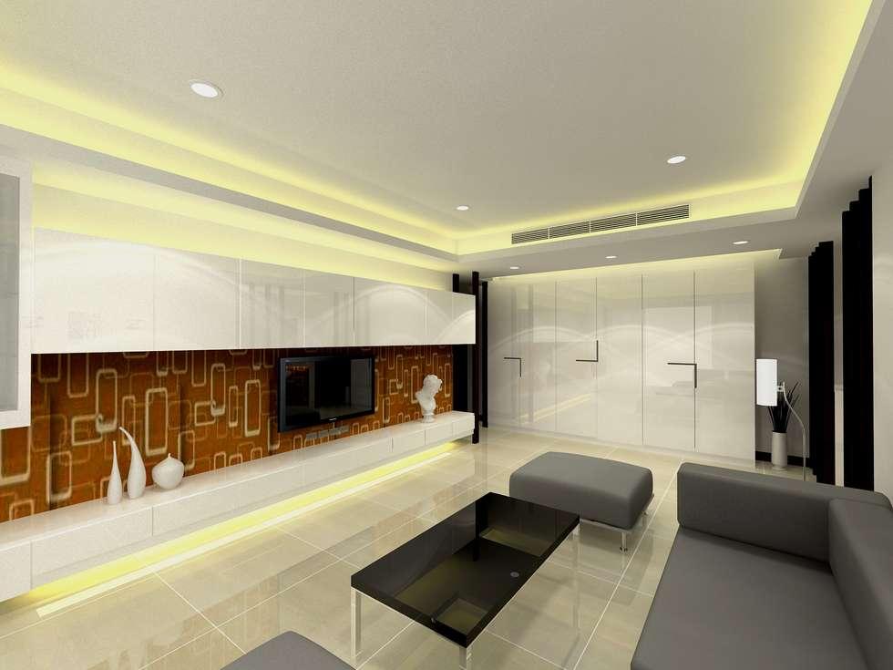 客廳設計:  客廳 by 劉旋設計事務所/劉旋工程有限公司