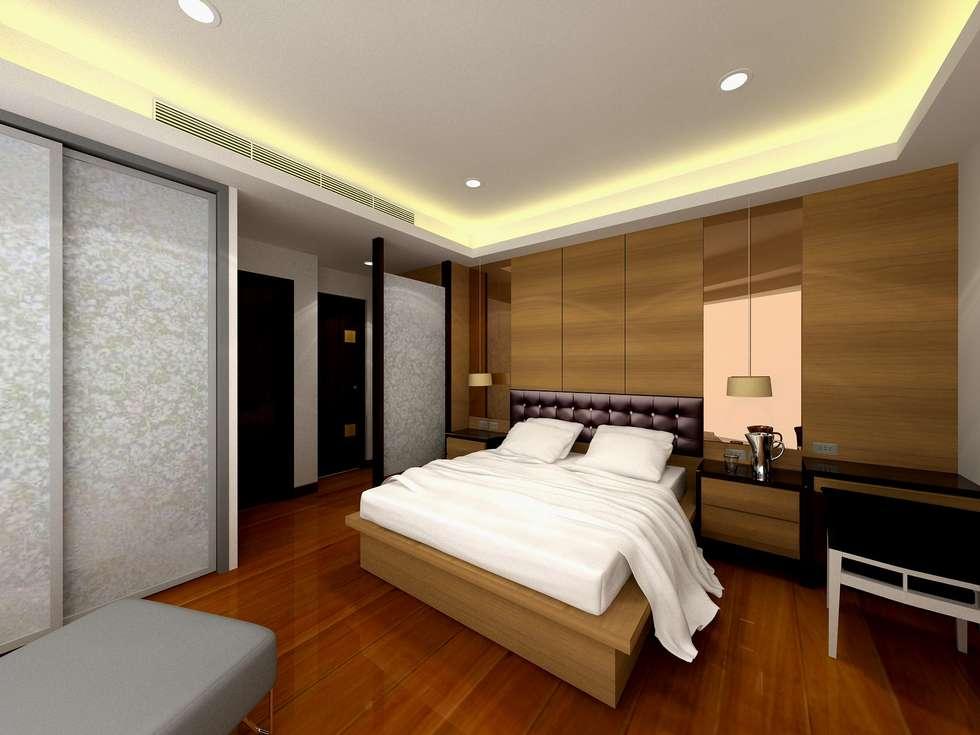 主臥房設計:  臥室 by 劉旋設計事務所/劉旋工程有限公司