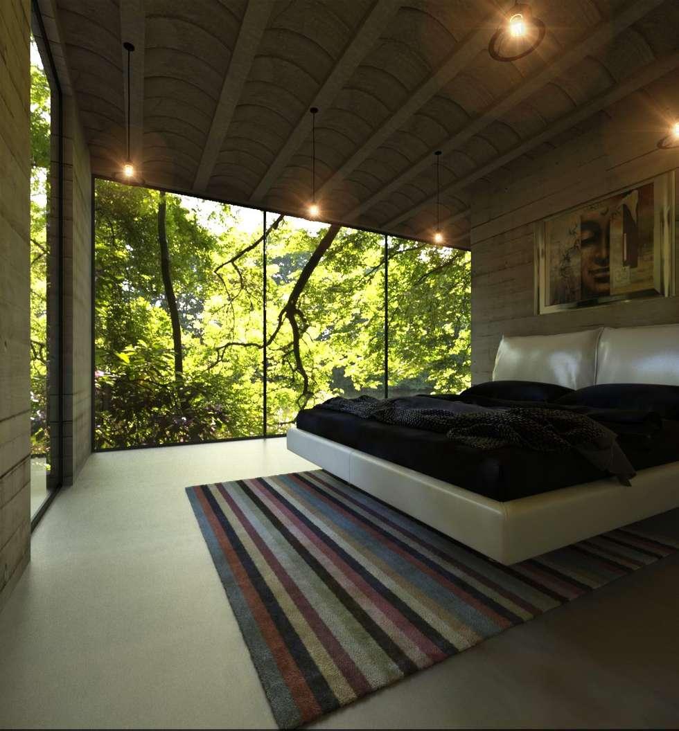 Casas campestres de estilo  por Chalets & Lofts