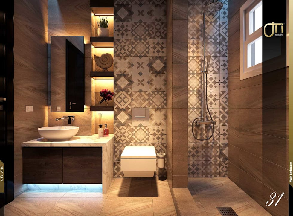 La Terra Residence: modern Bathroom by Ori - Architects