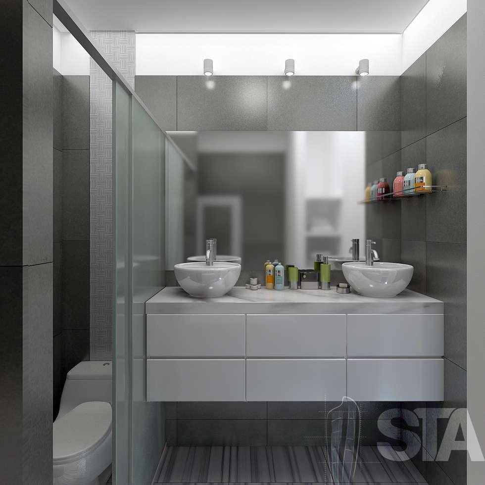 Ba o principal ba os de estilo moderno por soluciones for Arquitectura banos modernos