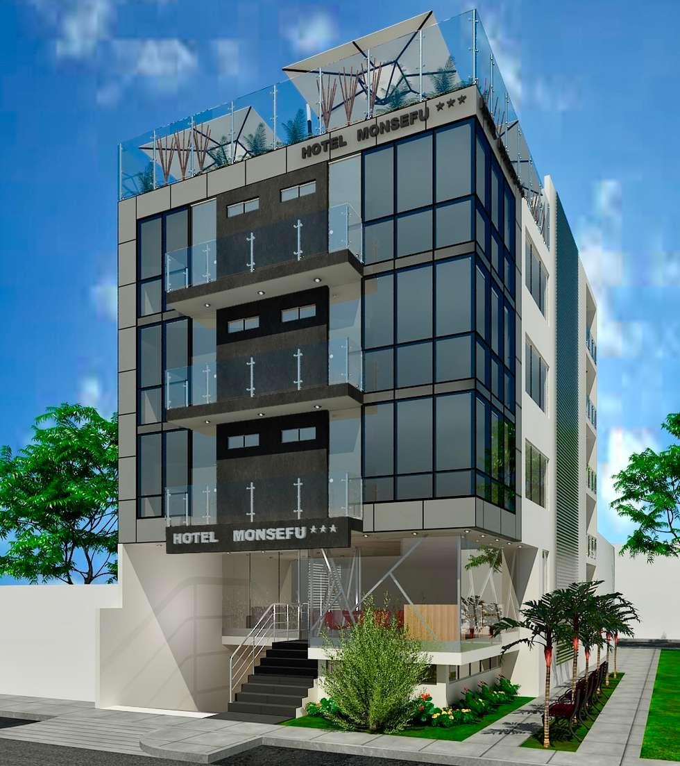 Proyecto Arquitectónico Hotel: Hoteles de estilo  por EPG  Studio