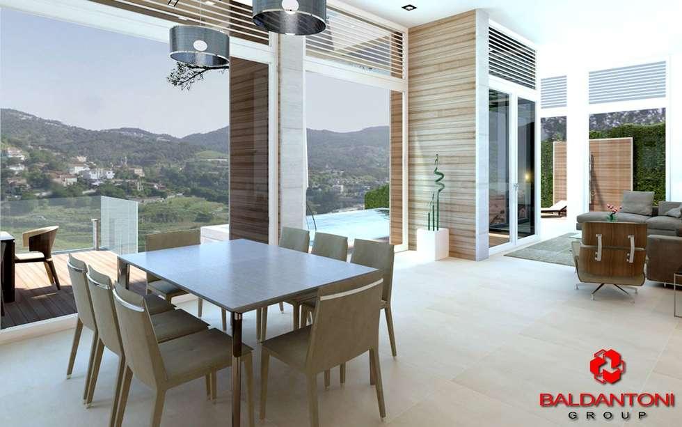 Soggiorno con vista panoramica: Soggiorno in stile in stile Moderno di Baldantoni Group