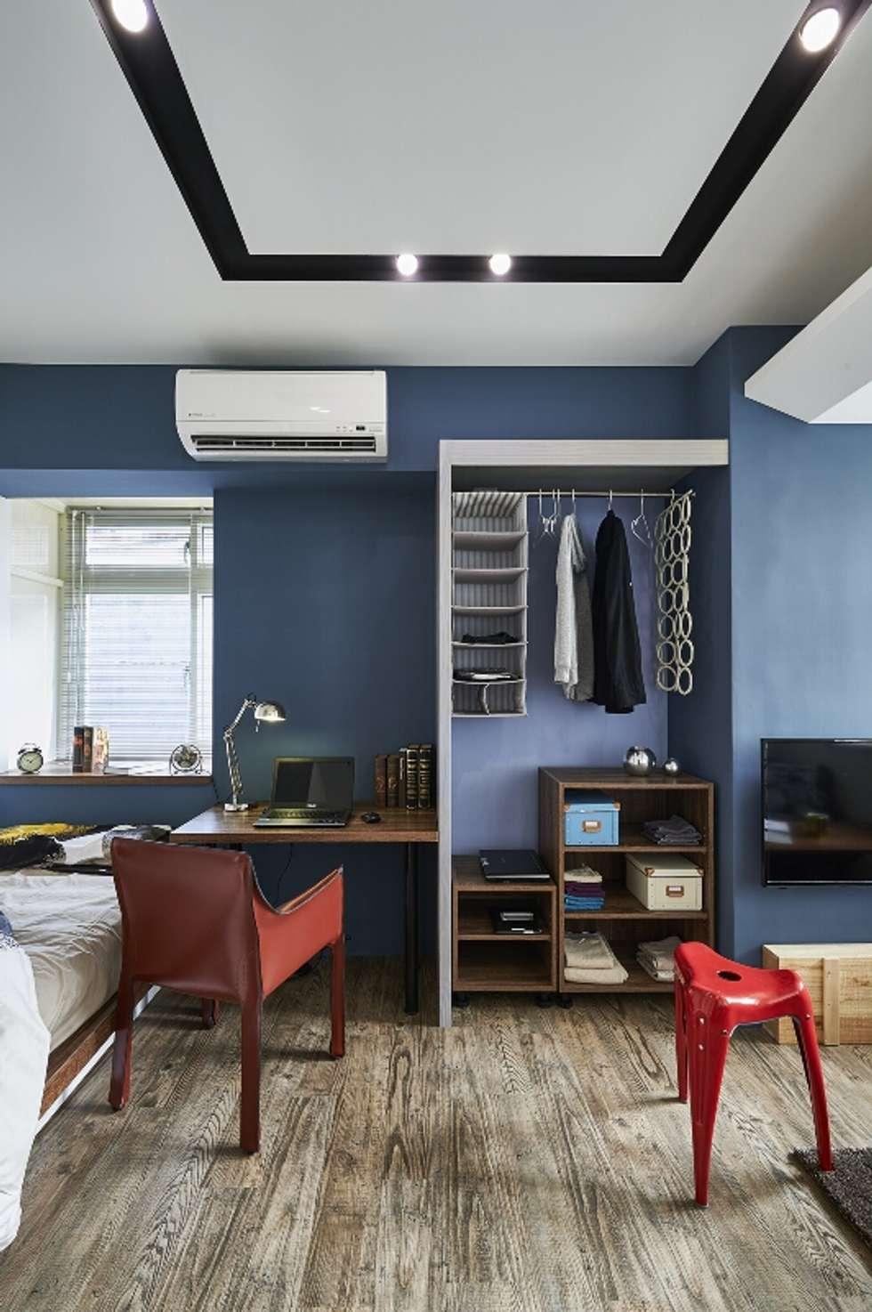 天花線條:  臥室 by 第宅空間設計