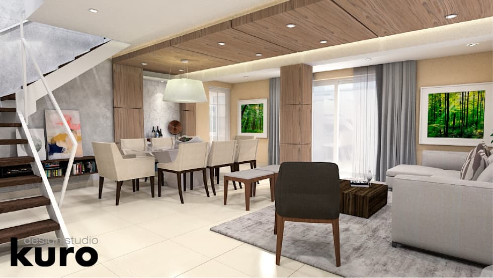 Sala comedor: salas de estilo moderno por kuro design studio | homify