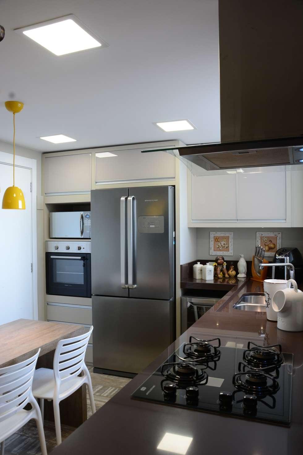 Cozinha Moderna Com Toques Em Estilo R Stico Por Fernanda Amorim