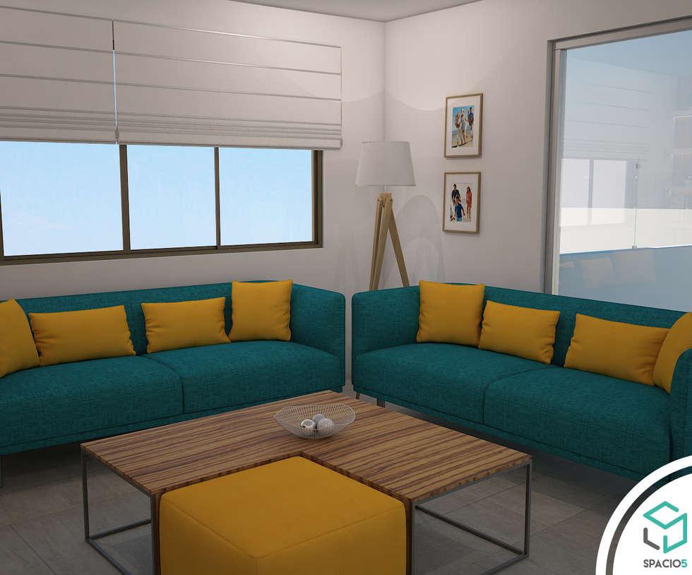 Muebles con mucho color: Terrazas de estilo  por Spacio5