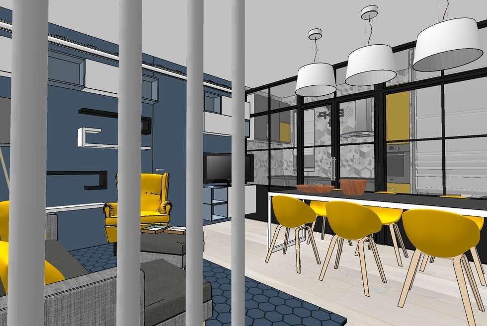 Living e Cucina : Soggiorno in stile in stile Moderno di INTERNO 75