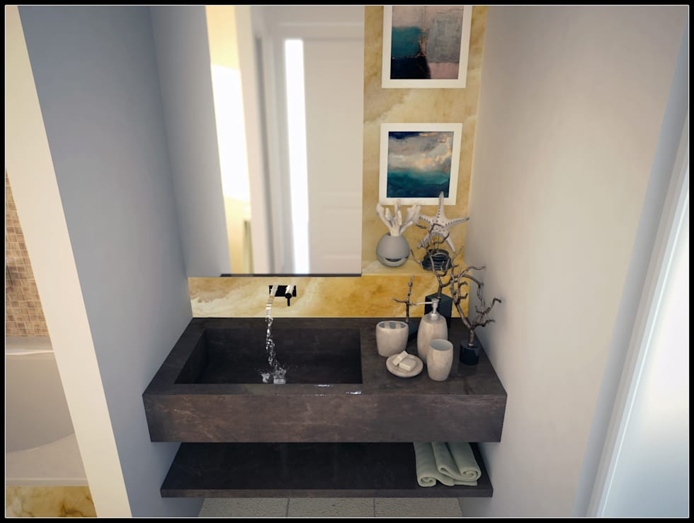 Lavabo _ Bagno zona giorno: Bagno in stile in stile Moderno di AG Interior Design