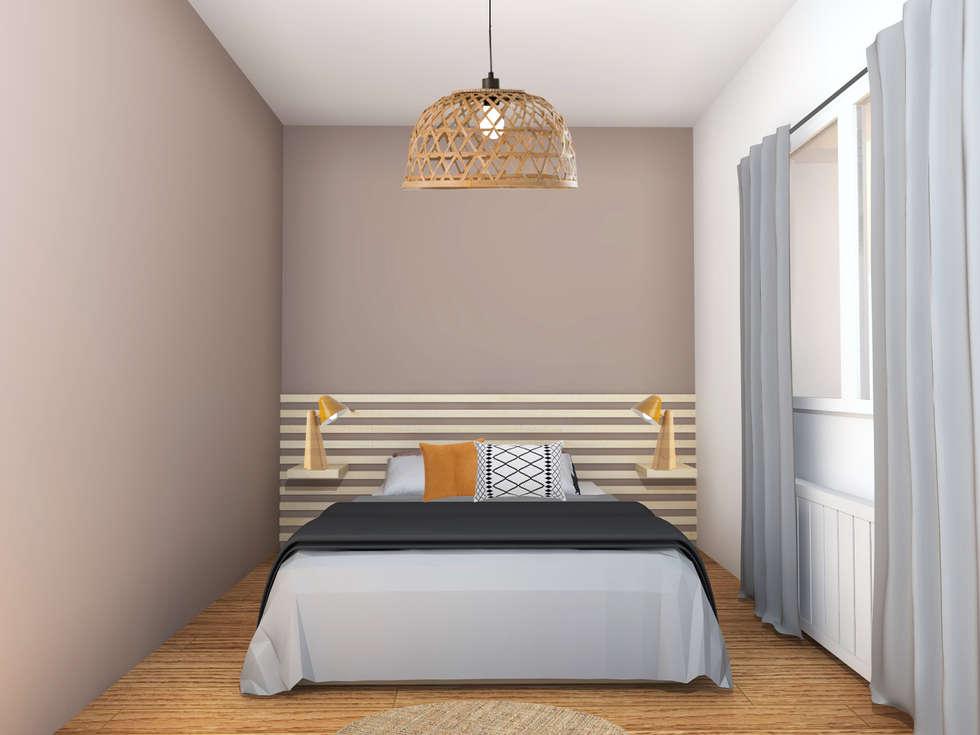 Une chambre chaleureuse: Chambre de style de style Scandinave par AL Intérieurs